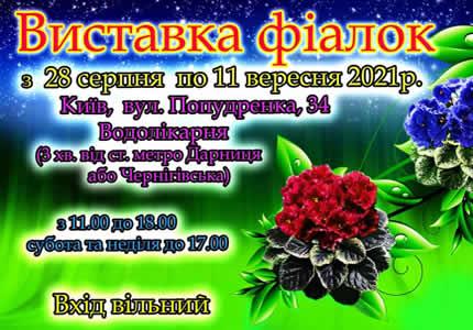 С 28 августа по 11 сентября на территории дарницкой водолечебницы пройдет выставка фиалок