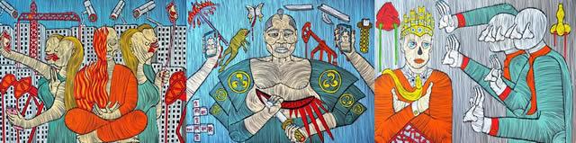 С 1 по 17 октября в галерее Portal 11 пройдет персональная художественная выставка Barbudaz «Trinity». Картины 1