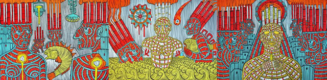 С 1 по 17 октября в галерее Portal 11 пройдет персональная художественная выставка Barbudaz «Trinity». Картины 3