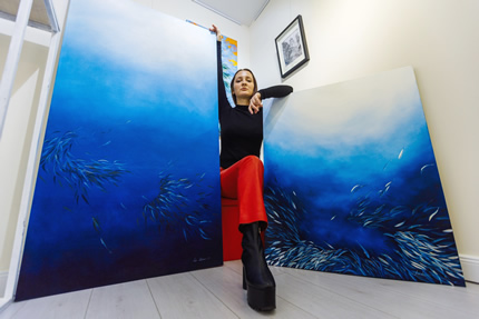 Открылась выставка живописи и скульптуры Леры Литвиновой и Леоноры Янко в арт-пространстве Lera Litvinova Gallery